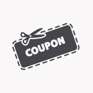 This is a vector illustration of Discount Coupon Icon